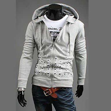 Men's Fashion New Printing Hooted Coat
