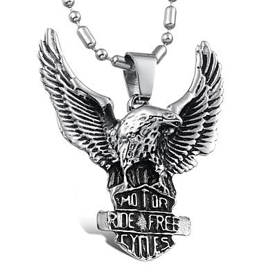 Super Cool Eagles Personality Man Titanium Steel Necklaces