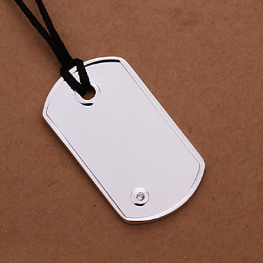 (1 Pc)European (Plate) White Copper Pendant Necklace