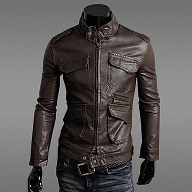The New Korean Style Men's Leather Jacket/ Outerwear