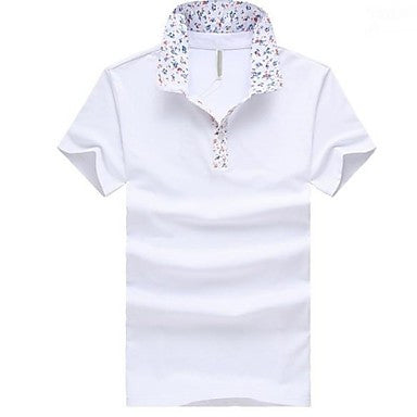 Men's Fashion Brand Short Sleeve Cotton Polo T-shirt