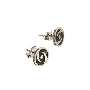 Classic Circle Cochlea Pattern Alloy Stud Earring(1 Pair)
