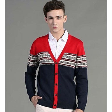 Men's Slim Fit Casual Long Sleeve Knitting Cardigans Sweaters