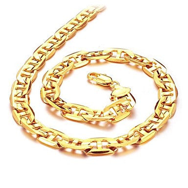 Cool On The Streets Of Duracell 18 K Gold Plating Men's G Necklace