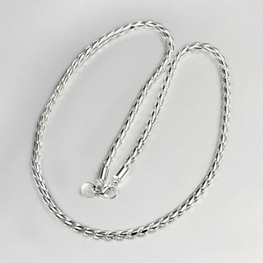 Classic Simple Silver Silver Plated Chain Necklace For Men(1 Pc)