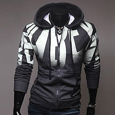 Men's Fashion With A Hood Slim Sport Jacket Coat