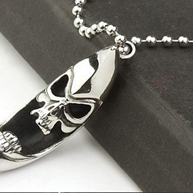 Men¡¯s Fashion Personality Titanium Steel Skull Moon Pendant Necklaces