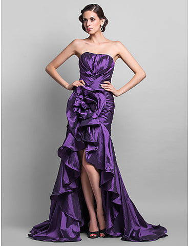 Trumpet/Mermaid Sweetheart Taffeta Floor-length Evening/Prom Dress