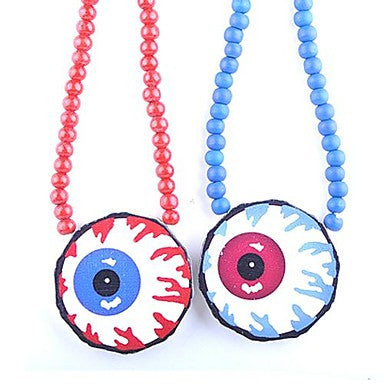 Eyeball Pattern Wood Necklace