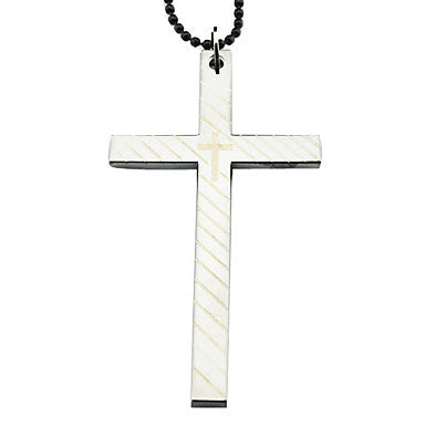 Alloy Cross Pattern Necklace (Silver)