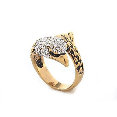 Fashion Alloy Rhinestone Eagle Rings Random Color