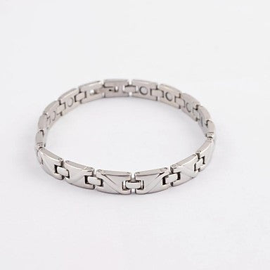 Fashion Men's S Shape Health Magnet Titanium Steel Bracelets