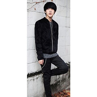 Men's Fleece Chinel Slim Coat