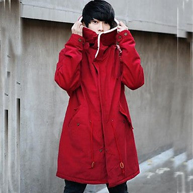 Men's Fashion New Students Hooded Coat