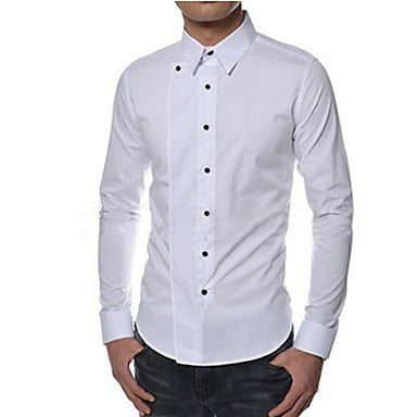 Men's Casual Fashion Pure Slim Shirt