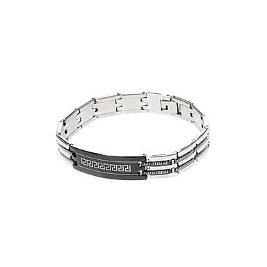 Classic Black Bell 43cm Men's Black Titanium Steel ID Bracelet(1 Pc)