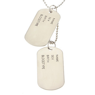 Name Tag Necklace-Matte Surface, Glaze