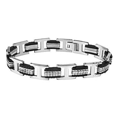 Men's Fashion Personality Titanium Steel Splicing Bracelets