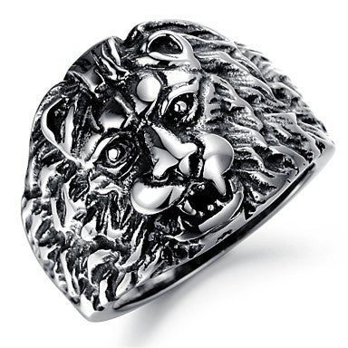 Domineering Lion King Gentleman Personality Ring