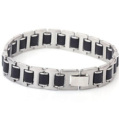 Men's Fashion Silica Titanium Steel Three Pieces Sheet Bracelets