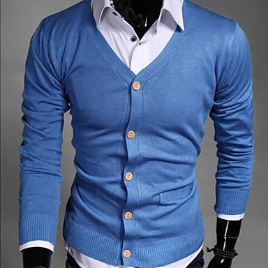 Men's Pure Knitting Cardigan Sweater