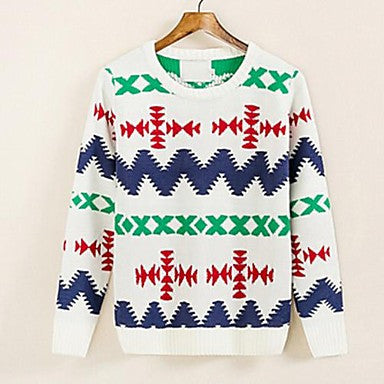 Men's New Back Into The Geometric Patterns Sweaters T-Shirts Self-Cultivation