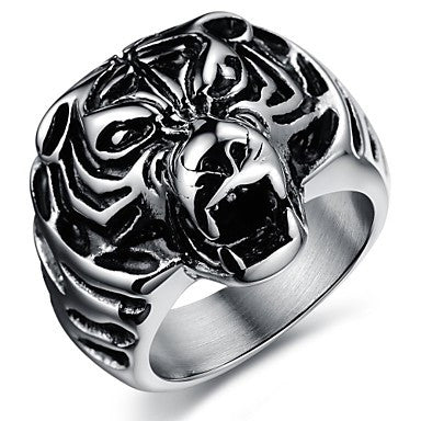 Fashion Stainless Steel Tiger Men's Rings (1 Pcs)