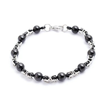 Fashion Men's Beads and The Great Well Chain Tennis Bracelets