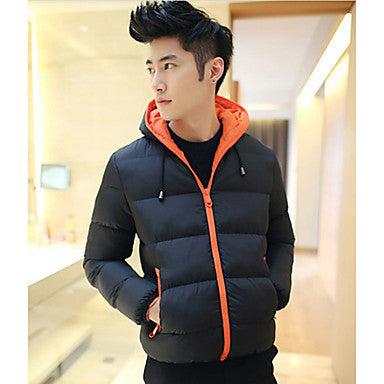 Men's Thick Casual Hoodie Cotton Padded