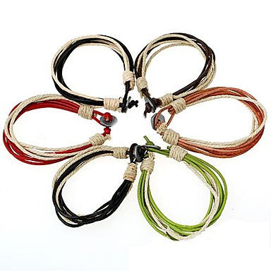 European Style Fashion Leather Braided Bracelet