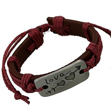Stone Mandrel Leather Bracelet