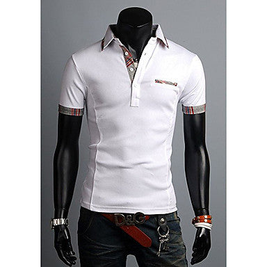 Men's Fashion Stand Collar Slim POLO Shirt
