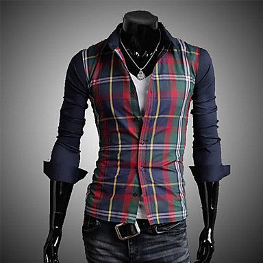 Men's Casual Fashion Pure Color Slim Shirt