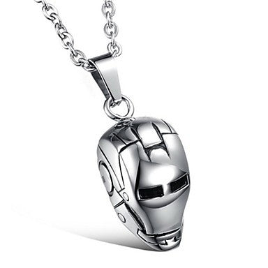 Fashion (Iron Man Helmet) Titanium Steel Necklaces (Silver) (1 Pc)