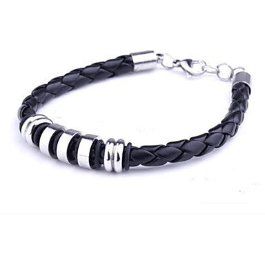 Men's Fashion Personality Titanium Steel Five Sections Woven by Hand Bracelets