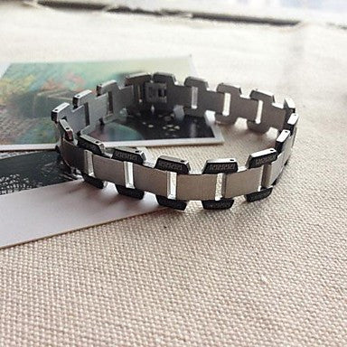 BRA0019-Fashion 21 CM Men Titanium Steel Bracelet