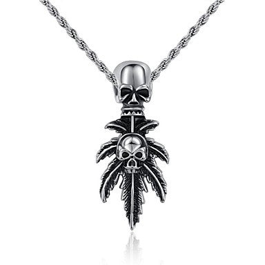 Fashion Jewelry Skull Stainless Steel Men's Pendant Necklace (1pc)