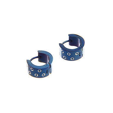 Fashion Circle Pattern Blue Alloy Stud Earring(1 Pair)