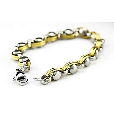 Men's Fashion Personality Titanium Steel Golden Bracelets