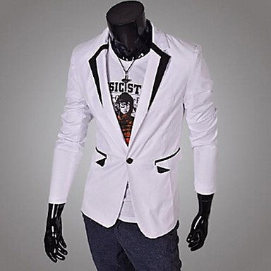 Men's Lapel Collar Color Matching Blazer