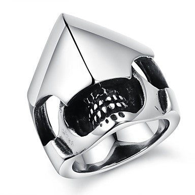 Cool Domineering Personality Of Punk Creative Armor Titanium Steel Foundry Men's Ring
