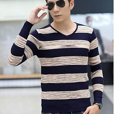 Men's Han Edition Leisure Turtleneck Collar Sweater Cardigans