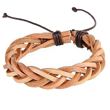 Fashion Weave Man-made 20cm Unisex Multicolor Leather Leather Bracelet(Random Color)(1 Pc)