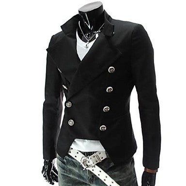 Men's Lapel Double Breasted Casual Coat