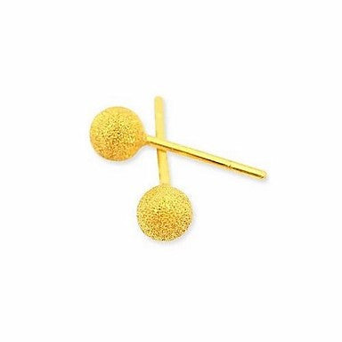 Fashion Female Models Matte Silver Plated Gold Color Gold Color Earrings