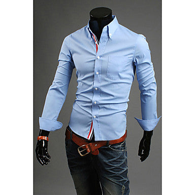 Men's Fashion Lapel Slim Shirt
