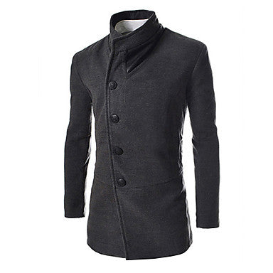 Men's Stand Collar Korea Style Coat
