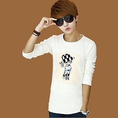 Men's Fashion Round Neck Cotton T-shirt