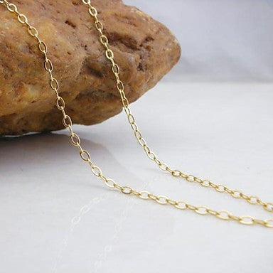 18K Gold Plated Bamboo Copper Necklace 48cm