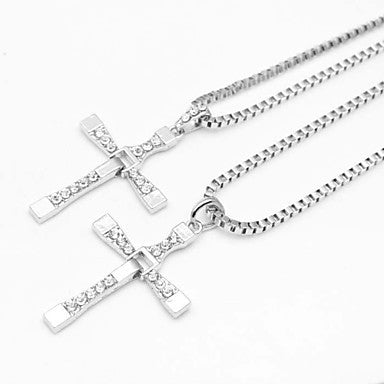 The Fast and the Furious Five Cross Silver Alloy Movie Pendant Necklace(1 Pc)